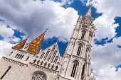 Matthias Church In Budapest, Hungary In The Center Of Buda Castle District