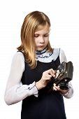 Girl Recharges Mechanism Camera