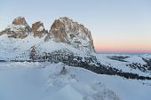 picture of south tyrol  - Face of mount Langkofel  - JPG