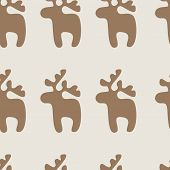 Pattern With Raindeer