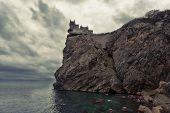 Swallow's Nest castle on the rock over the sea Crimea