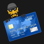 foto of hack  - Criminals hacked credit card eps 8 file format - JPG