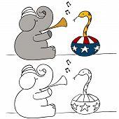 Elefante de serpentes