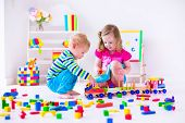 pic of preschool  - Kids play at day care - JPG