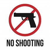 pic of shoot out  - No shooting icon - JPG