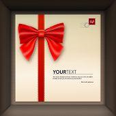 stock photo of congratulation  - Gift box with congratulations - JPG
