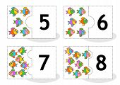 stock photo of numbers counting  - Learn counting 2 - JPG