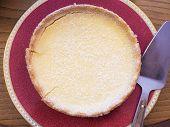 picture of custard  - A freshly baked and warm custard tart - JPG