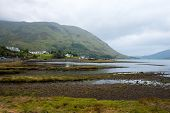 foto of fjord  - A view of Leenane village and Killary fjord - JPG