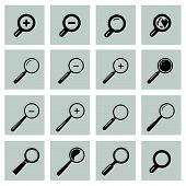 ������, ������: Vector Set With Search Icon