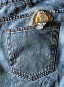Jeans Condom Back Pocket