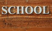 Wooden School Sign