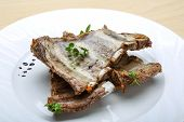 picture of baby back ribs  - Roasted pork ribs with herbs and spices - JPG
