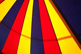 image of circus tent  - circus tent pattern on a cloth texture - JPG