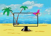 The Monitor Is On The Beach.