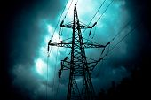 stock photo of transformer  - Power Line - JPG
