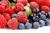 stock photo of healthy food  - different kinds of berries - JPG