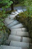 Japanse tuin wandelpad