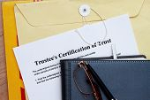 pic of manila paper  - Trust certificate abstract - JPG