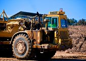 Heavy earthmoving equipment working on new housing development