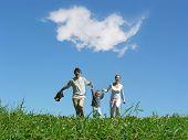 Familie Sonnentag und Wolke
