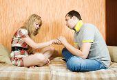 Couple After Quarrel Inside