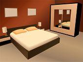 vector de dormitorio marrón