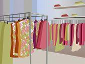 vector kleren in winkel