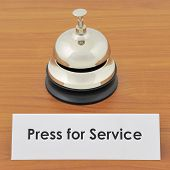 Closeup of service bell