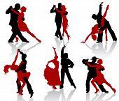 Постер, плакат: Танго силуэты