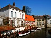 Scenic Canal In Brugges