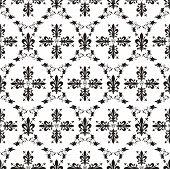 Seamless Victorian Royal Vector Texture With Fleur-de-lis