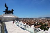 quadriga of unity at top of Altar of Fatherland in Rome, Italy