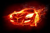 Fire car Series of fiery illustrations
