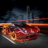 Race on the night streets. My own car design. Not associated with any brand.