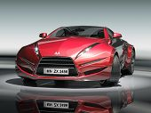 Постер, плакат: Красный спортивный автомобиль