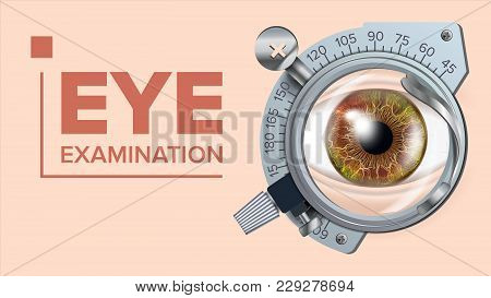 Eye Test Banner Vector Vision