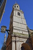 Постер, плакат: St Magnus The Martyr Church In The Financial District Of The City Of London With A Clock On The Lef