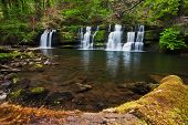 Beautiful Spring Waterfall In The Brecon Beacons