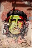 Che Guevara portrait colorfill