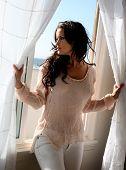 Beautiful Brunette Model