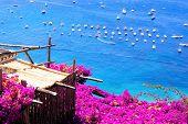 Vista da costa de Amalfi