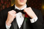 Teenage Boy Dressed For Prom poster