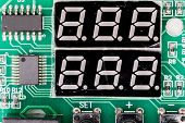 Seven-segment Display (ssd), Or Indicator, Electronic Display Device For Displaying Decimal Numerals poster