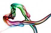 humo de colores, formando un corazón
