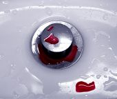 Red Drops In Sink