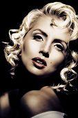 Imitação de Marilyn Monroe. Estilo retrô