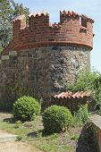 Fortified Tower At The Castle Wall In Tangermuende