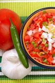 Spicy Salsa With Variety Of Ingredients poster