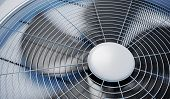 Close Up View On Hvac Units (heating, Ventilation And Air Conditioning). 3d Rendered Illustration. poster